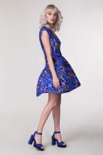 Blue Drop Waist Wrap Dress - 5