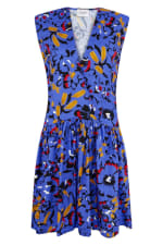 Blue Drop Waist Wrap Dress - 3