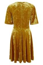 Gold Wrap Over Circle Skirt Dress - 3