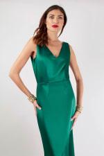 Closet Gold Green Asymmetric Frill Dress - 3