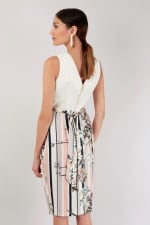 Ivory Draped Top and Skirt Dress - 2