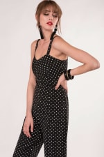 Black Fitted Strap Jumpsuit - 4