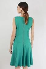 Green Asymmetrical Skirt Dress - 2