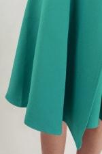 Green Asymmetrical Skirt Dress - 3