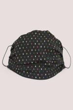 Black Spots Double Layer Fabric Face Mask - 1