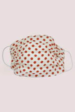 Ivory Red Spotted Double Layer Fabric Face Mask - 1