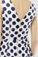 Navy Polka Dot Princess Seam Dress - 3