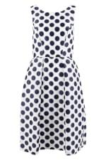 Navy Polka Dot Princess Seam Dress - 5