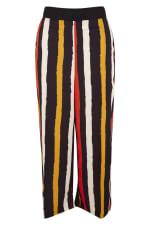 Black Stripes Crop Leg Pants - 3