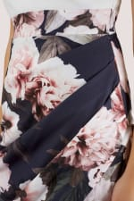 2-in-1 Navy Floral Pencil Dress - 3