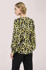 Multi Leopard Print Long Sleeve Blouse - 2