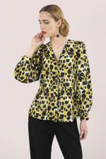 Multi Leopard Print Long Sleeve Blouse - 3