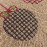 "Jute Christmas Ornaments 14""x26"" Dark Natural Cotton Pillow Cover - Natural - Detail"
