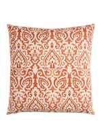 Damask Orange & Natural Throw Pillow - 2