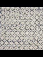 Block Print Blue & Natural Throw Pillow - Blue - Detail