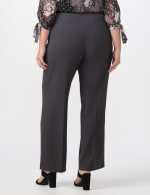 Roz & Ali Secret Agent Pull On Tummy Control Pants - Short Length - Plus - Grey - Back