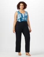 Roz & Ali Secret Agent Pull On Tummy Control Pants - Short Length - Plus - 19