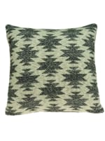 Square Southwest Cool Gray Accent Pillow Cover - 1