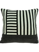 Black and Grey Pillow Cover With Down Insert - 2