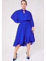Karen Ruffle Hem  Hi Low Dress - Plus - 1