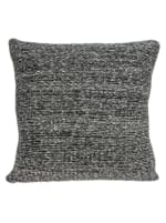 Square Gray And Black Weave Accent Pillow Cover - 1