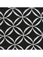 Geometric Design Black and White Cotton Pillow Cover - 2