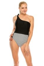 CaCelin Asymmetrical One Piece Swimsuit - 1