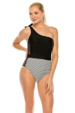 CaCelin Asymmetrical One Piece Swimsuit - 4