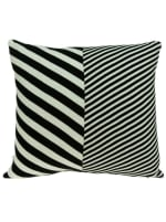 White and Black Pillow Cover With Down Insert - 2