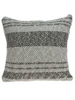 Square Gray Regatta Stripe Accent Pillow Cover - 1