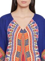 Long Handmade Paisley Kaftan Dress - 3