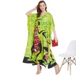 Dancing Handmade Tribal Printed Kaftan Dress - 5