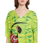Dancing Handmade Tribal Printed Kaftan Dress - 2
