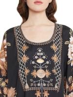 Woody Handmade Floral Kaftan Dress - 3