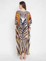 Leopard Handmade Print Kaftan Dress - 2