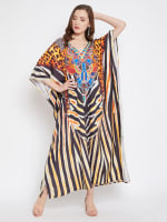 Leopard Handmade Print Kaftan Dress - 7