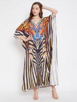 Leopard Handmade Print Kaftan Dress - 1