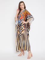 Leopard Handmade Print Kaftan Dress - 4