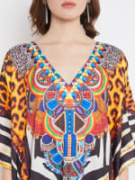 Leopard Handmade Print Kaftan Dress - 3