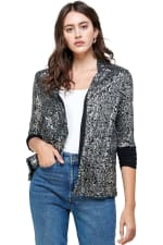 Sequins Cover Up Party Blazer Top - 3