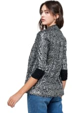 Sequins Cover Up Party Blazer Top - 5
