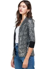 Sequins Cover Up Party Blazer Top - 4