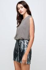 Sequins Bottom Short Mini Dress - 11