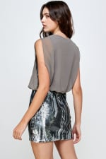 Sequins Bottom Short Mini Dress - 10