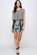Sequins Bottom Short Mini Dress - 8
