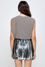 Sequins Bottom Short Mini Dress - 9