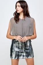Sequins Bottom Short Mini Dress - 12