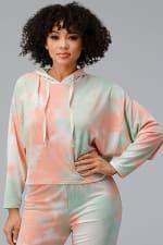 Tie Dye Hooded Sweatshirts Jogger Lounge Wear Set - 4