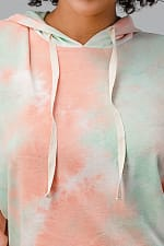Tie Dye Hooded Sweatshirts Jogger Lounge Wear Set - 3