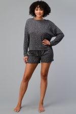 Ditsy Floral Short Loungewear Set - 1